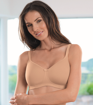 Anita Mastectomy Bra Tonya - Sand Padded Tee Shirt Mastectomy Bra Seamless Prosthesis Bra