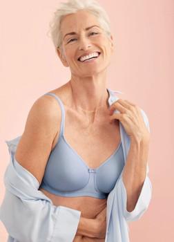 Anita Mastectomy Bra Tonya - Soft Blue Limited Padded Tee Shirt Mastectomy Bra Seamless Prosthesis Bra