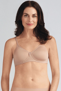 Lara SB  Mastectomy Bra by Amoena Wire Free /Padded / Seamless Bra/ Teeshirt Bra Nude