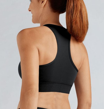 Front Zipper Sports Bra after Breast Surgery by Amoena