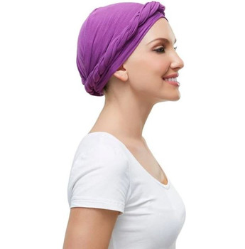 Headwear- Softie Wrap-Plum color only for reference by Jon Renau