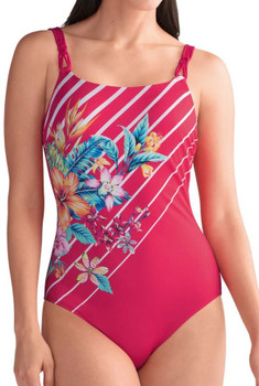 8b30ba9b055 One Piece Swimsuit- Mastectomy Swimwear by Amoena -Mexico Boyleg