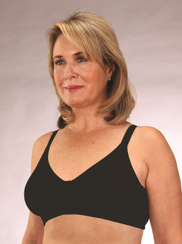 Seamless Cotton Front Closure Mastectomy Bra