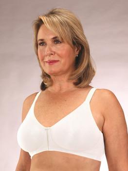Seamless Cotton Front Closure Mastectomy Bra