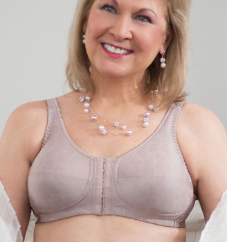 Mastectomy Bra - Front Close Rose Contour Bra  by American Breast Care (ABC-123)