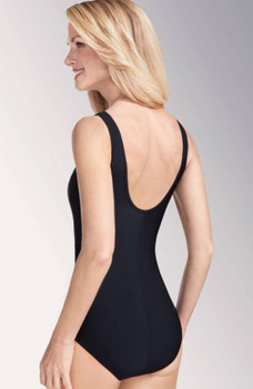 Rhodes One-Piece Swimsuit-Black back