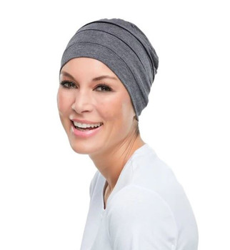 Head Cover Playful Softie Chemo Hat- Dark grey by Jon Renau