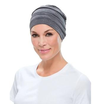 Head Cover Playful Softie Chemo Hat-Dark grey by Jon Renau