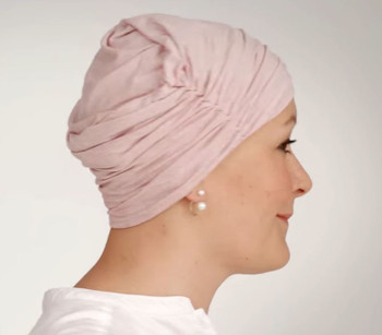 Chitta Turban/Headband- How to - Step3 Model - Rose Melange-320