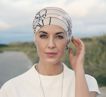 Christine Hat| Yoga Turban Print Bamboo Chemo Cap