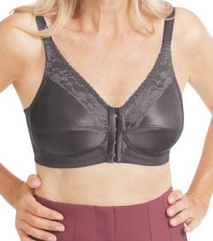 Nancy Mastectomy Bra with Front Closure Bra  by  Amoena - Dark Grey Nancy 44740