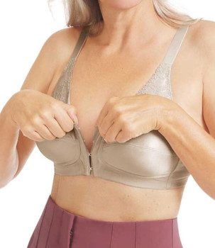 Nancy Mastectomy Bra with Front Closure Bra  by  Amoena - Light Nude Nancy 44739