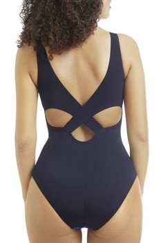 Toronto One Piece High Neckline Swimsuit  - back by Amoena