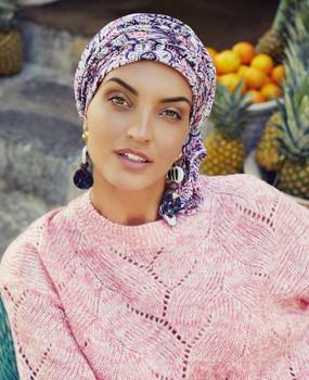 Sapphire Boho Turban -Moroccan Vibes  by Christine Headwear