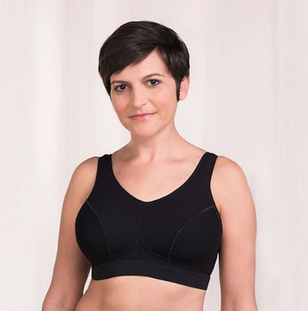 Sophia Sport Mastectomy Bra  by Trulife -Black