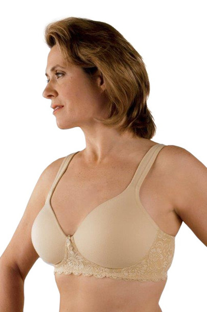 Style 730 Post Mastectomy Bra by Classique Seamless, mastectomy teeshirt bra, padded mastectomy bra