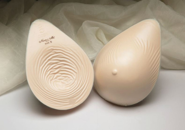 Discount Breast Forms, Breast Prosthesis, Lightweight, Tapered Oval Shape for Pendulous Breasts