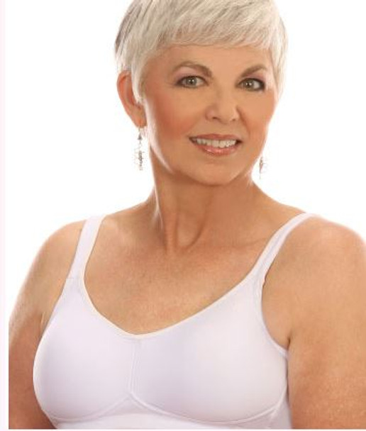 Padded Wire-free Mastectomy Bra by American Breast Care (ABC) Available in White color only