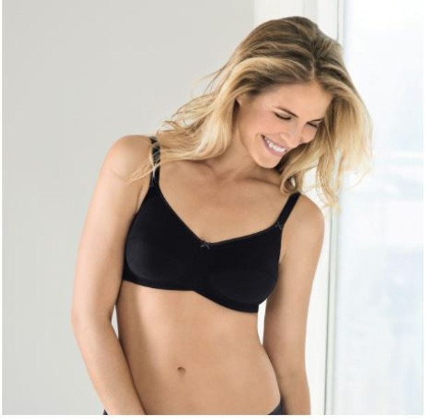 97% Cotton, Wire - Free Bra  for Sensitive Skin after Mastectomy Surgery, This bra can be worn by any women even without surgery, Provides support and comfort.