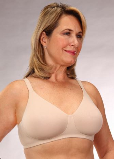 Classique  Mastectomy Cotton Bra - Style 722 - Beige Allergy Free Cotton Bra for sensitive skin after mastectomy.