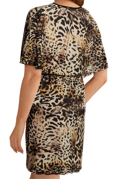 Amoena Nauru Swim Tunic Leopard Print and Black