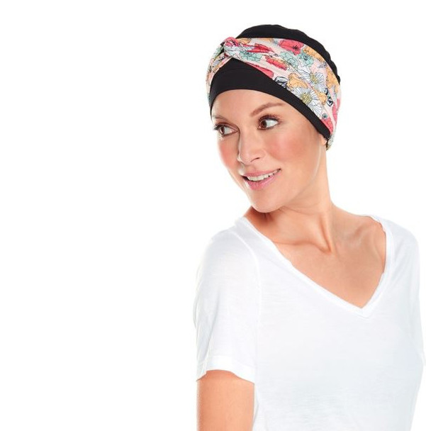 Softie Accent Chemo Cap-Head Band by Jon Rena Blooms Print