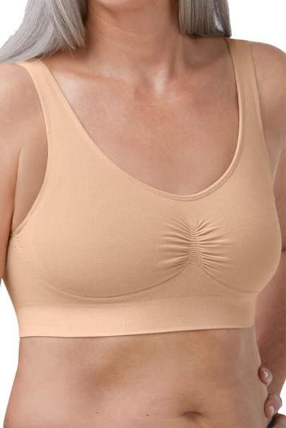 Becky Mastectomy Comfort Bra by Amoena-Rose Pink