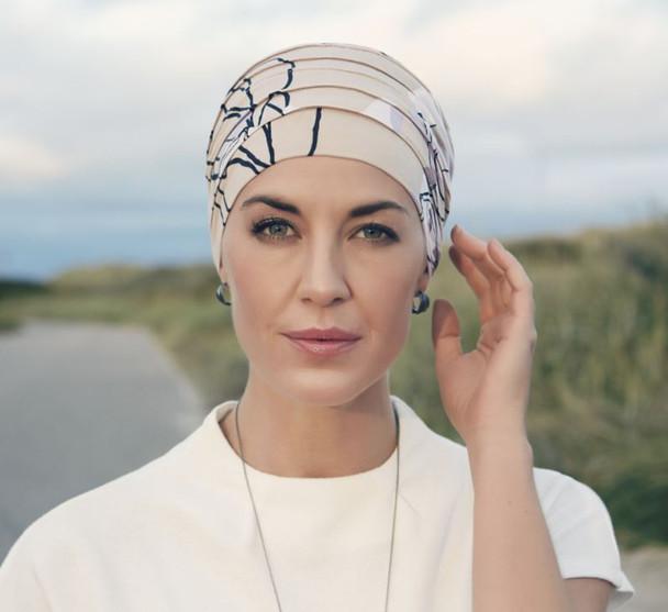 Christine Hat  Yoga Turban Print Bamboo Chemo Cap