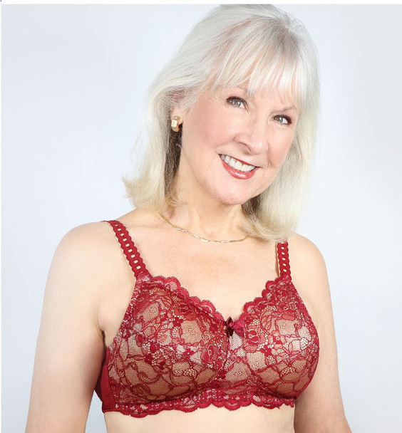 Princess Lace Bra style 514 - red/wine by American Breast Care
