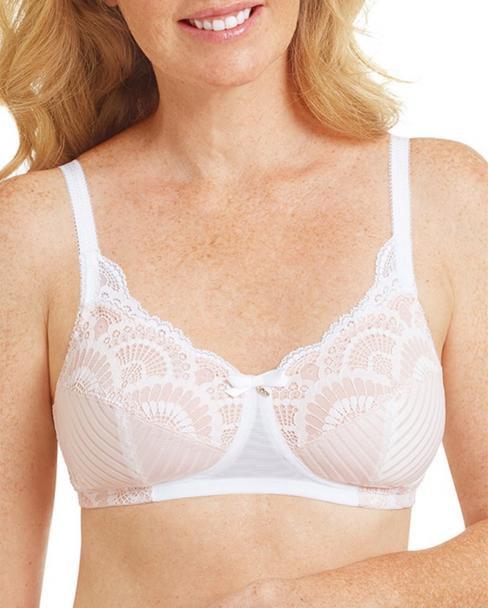 Karolina Wire Free Mastectomy Bra - White Light Nude by Amoena