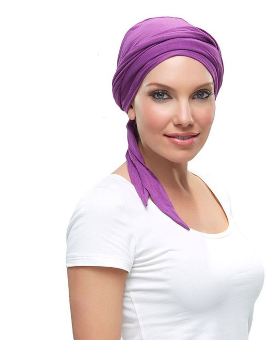 Headwear- Softie Wrap by Jon Renau  Color - Plum
