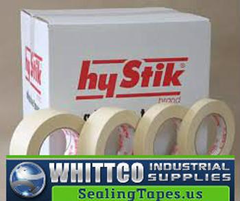 36mm x 55m Econo Grade Masking Tape 24/cs 8032455 (8033655-HYSTIK)