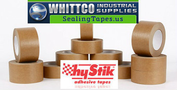 48mm x 50m Hystik Kraft Lt Tan Flatback Tape 24/cs 8854850 (8854850-HYSTIK)