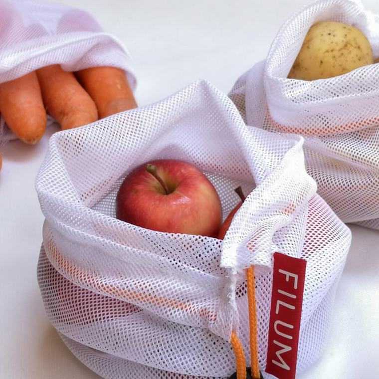 Set de 3 bolsas para alimentos frescos