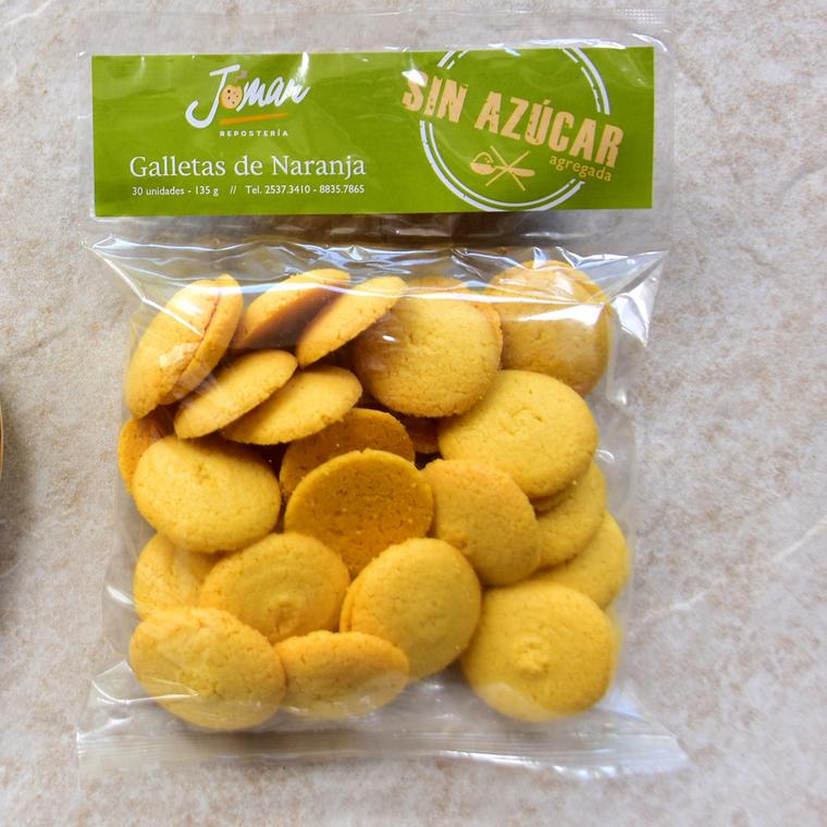 Galletas de Naranja sin Azúcar (30uds/135g)
