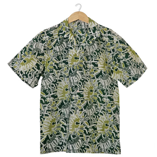 Aloha Style Shirt Men - Jellyfish on Green