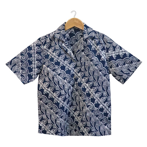 Aloha Style Shirt Women - Parang Keong on Navy