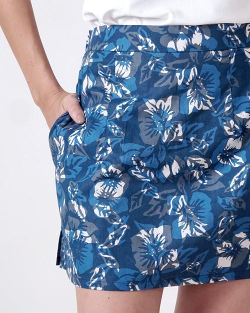 Skort - Hibiscus Paradise in Blue