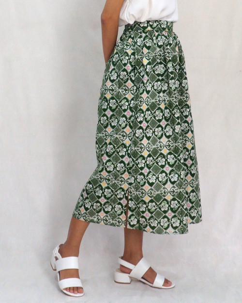 Gather Skirt - Green Stroke of Luck