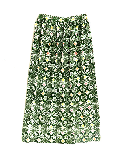 Gather Skirt - Green Stroke of Luck