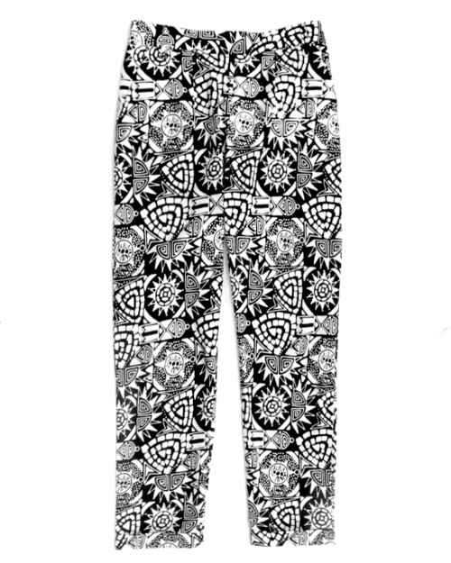 Pegged Pants - Asmat in Monochrome