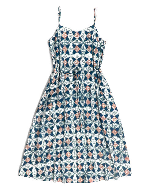 Camisole Dress - Teal Diamond