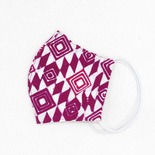 Reusable Face Mask (S (Kids), M) - Batik 49