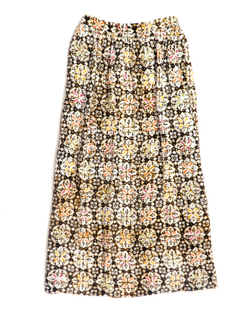 Gather Skirt (Long) - Blooming Floral
