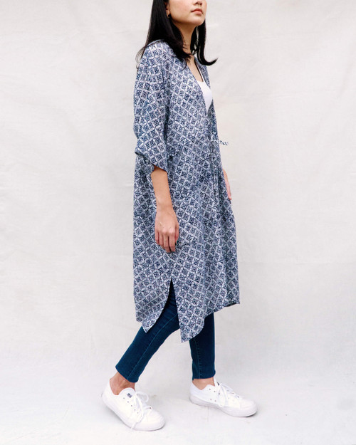 Outerwear - Floral Kawung on Navy