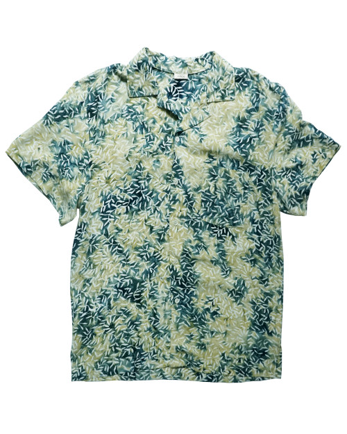 Aloha Shirt - Green x White