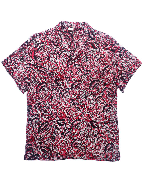 Aloha Shirt - Red x Black