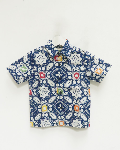 Kids Batik Shirt - Blue Starlight