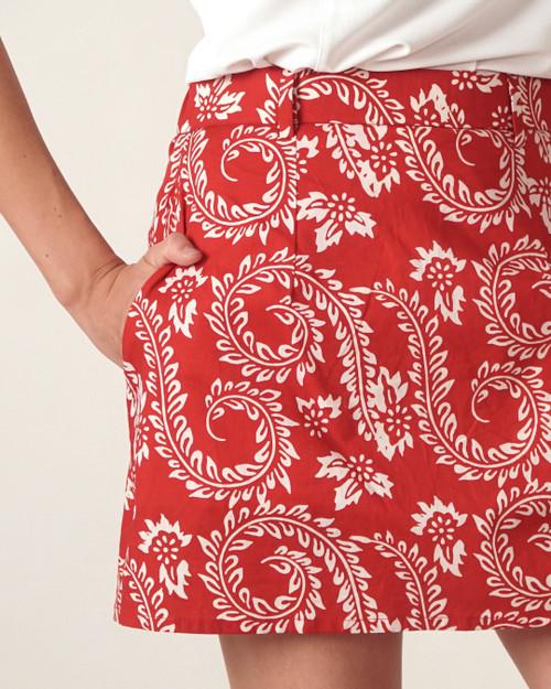 Skort - Dancing Fern in Red