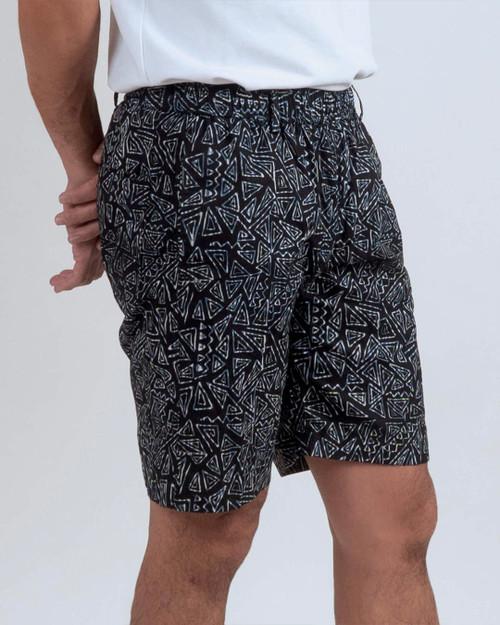 Half Pants - Tribal Triangle on Black